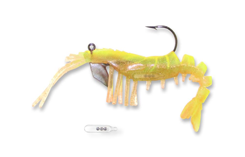 "Egret Baits E-VS35R-14-07 3.5/"" Vudu Shrimp with Rattle Root Beer 24317"